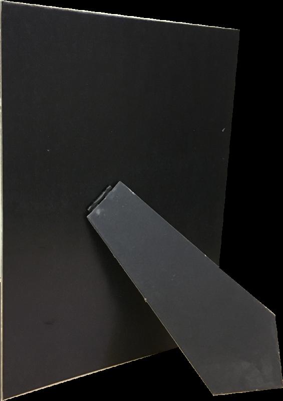 Задник с ножкой (черный картон)